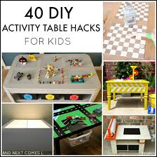 toy story activity table 40 diy activity table hacks for kids and next comes l
