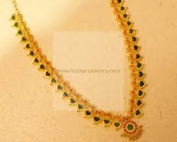 gold set for marriage gold necklace gundu pacchi chain necklace pearl gundu