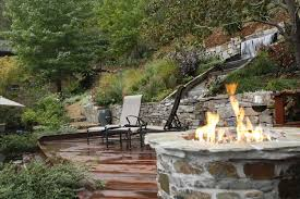 fencing on a hillside backyard landscaping for perfect ideas slope