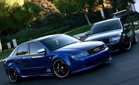 audi a4 avant modified custom vossen rims slammed stance