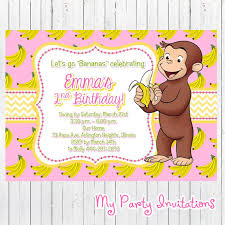 custom curious george birthday invitations gallery invitation
