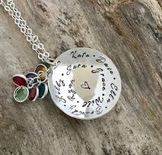 grandma necklace mother necklace birthstone jewelry personalized