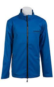 cinch men u0027s blue softshell zip up jacket outerwear pinterest