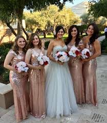 sangria bridesmaid dresses best sequins gold bridesmaid dresses 2018 for wedding guest
