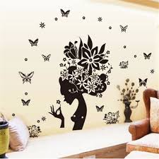 painting ideas for baby girl room sweet wall decorate great blue wall stickers rose pvc home decor large size online get cheap black girl art aliexpress com alibaba group decorative