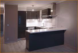 cuisine sur un pan de mur une cuisine ouverte sur salon réalisations 2 crea renov