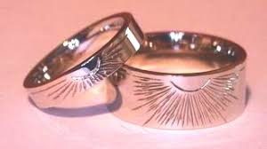 Native American Wedding Rings by 4 Corners Raven Feathers Sunburst Thin And Wide Band Rings By