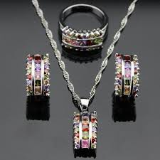 colored crystal necklace pendants images Healing crystal jewelry sets jpg