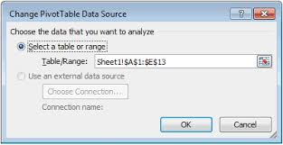 Change Pivot Table Data Range Ms Excel 2010 How To Change Data Source For A Pivot Table