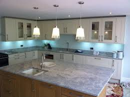 interior white kitchen blue backsplash ideas table accents