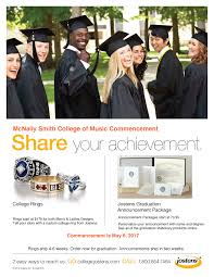 order graduation announcements commencement ceremonies mcnally smith college of