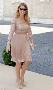 another fashion hit for princess beatrice at wedding of prince