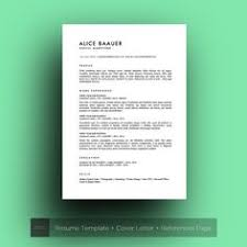 Resume Examples Cover Letter by Resume Template 3 Pages Cv Cover Letter U0026 References By