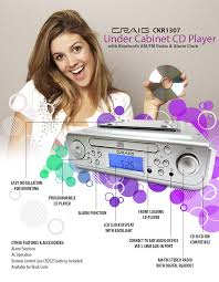 Kitchen Cd Player Under Cabinet by Under Cabinet Cd Player With Bluetooth Am Fm Radio U0026 Alarm Clock