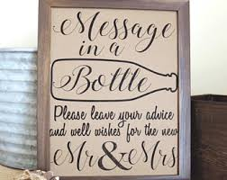 message in a bottle wedding message in a bottle sign wedding guest book sign wedding