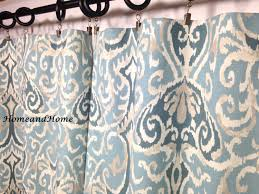 Blue Ikat Curtain Panels Ikat Curtains Custom Drapery Panels Window Curtains Designer