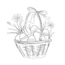 silhouette design store view design 120971 easter basket sketch