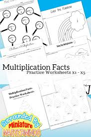 free printable multiplication facts practice worksheets 1 u2013 5