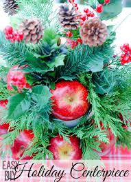 Apple Centerpiece Ideas by Easy Diy Holiday Centerpiece An Alli Event