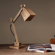 high cube shaded swing arm elegant designer wood table lamp 20 8