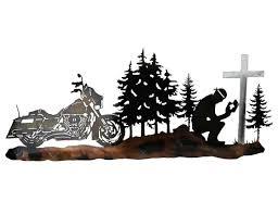 Custom Metal Signs For Home Decor by Smw465 Custom Metal Decor Motorcycle Biker Prayer Wall Art