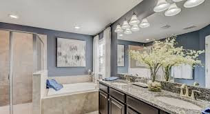 Grey Blue Cabinets Homes With Blue Bathrooms Sell For 5 440 More Than Expected The