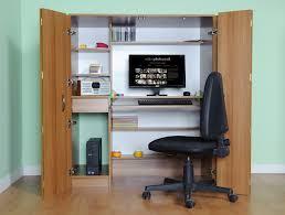 Cheap Computer Desks Uk Office Hideaway Computer Desk Beech M1710 And Walnut M1860