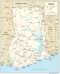 ghana map blank political ghana map with cities