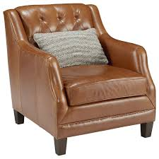 Leather Upholstery Chair Magnolia Home By Joanna Gaines Gentry Leather Upholstered Chair