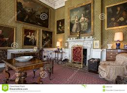 stately home interiors drawing room manor house editorial stock