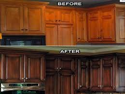 Restaining Kitchen Cabinets Darker Beautifull Kitchen Cabinet Refacing Ideas 2planakitchen
