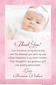 baptism thank you wording christening baptism photo thank you card baby girl