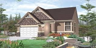 House Plans For Sloping Lots Mascord House Plan 1136 The Rosebay