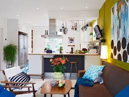 a very colorful nordic interior