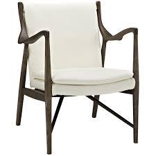 Modern Leather Lounge Chair Finn Juhl Model 45 Style Leather Lounge Chair In Walnut Cream