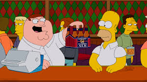 family guy thanksgiving episode family guy u2013 simpsons beer screenb hires2 canada com
