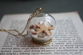 glass ball necklace images Newyorkscene glass ball seas and oceans sea star shell necklace jpg