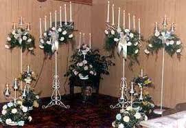 candelabra rentals ceremony decorations
