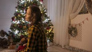 woman decorating christmas tree stock footage video 1883776