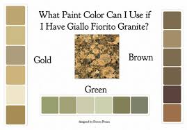 what paint color can i use if i have giallo fiorito granite