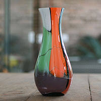 Glass Vase Art Murano Glass Keepers Of The Arts At Novica