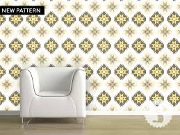 temporary peel off wall paint wallpaper temporary removable wallpaper aztec tan grey green