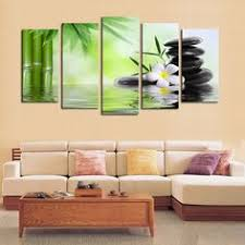 Canvas Home Decor Bamboo Stone Scenery Modern Home Wall Decor Canvas Picture Art