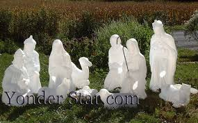 nativity outdoor lighted white outdoor nativity 11 pcs yonder