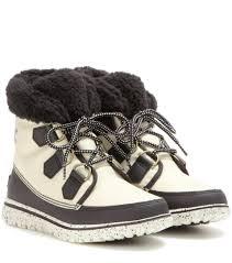 sorel womens boots uk lyst sorel cozy carnival fleece lined ankle boots in white