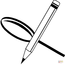 pencil coloring pages magnifying glass and pencil coloring page free printable