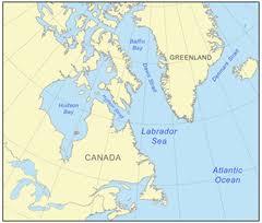 sea of map labrador sea