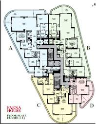 house and floor plans check out faena house s fabulously floorplans curbed miami