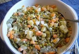 legumes cuisine recette macédoine de légumes mayonnaise la cuisine familiale