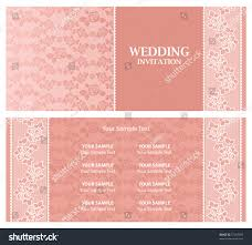 wedding invitation template vector floral frame with sample